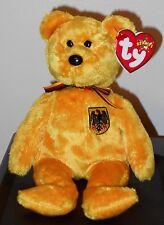 """Ty Prinz Von Gold Bear Germany Excl 8"""" Beanie Baby 2001 Boys Girls 3 MWMT"""