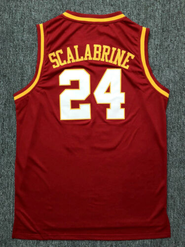Brian Scalabrine #24 USC Trojans College Throwback Basketball Jersey Stitched