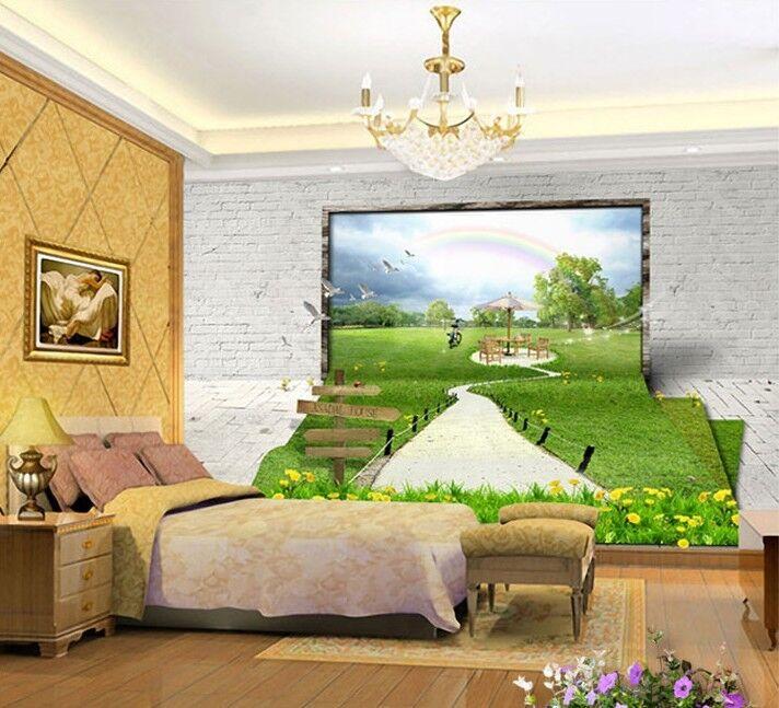 3D Happy Grün Aisle 7 Wall Paper Murals Wall Print Wall Wallpaper Mural AU Kyra