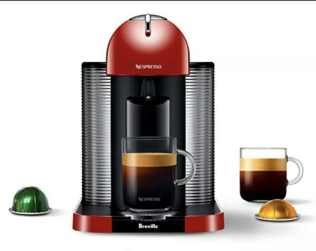 Breville Nespresso Vertuo Bnv220red1buc1 Red Coffee Espresso Machine for sale online | eBay