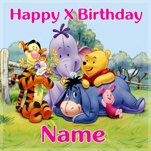 WINNIE THE POOH Cake Topper Personalised