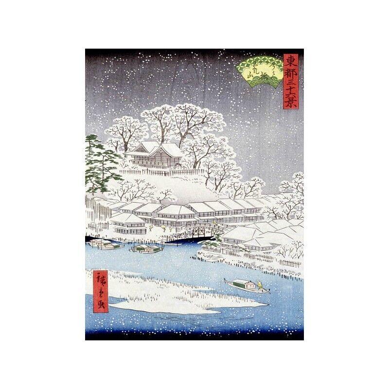 Quadro su Pannello in Legno MDF Katsushika Hokusai Paysage Paysage Paysage sous la neige | Divers Les Types Et Les Styles  | De Faire Le Meilleur Emploi De Matériaux Et Spécial Offre  | L'exportation  8fdb68