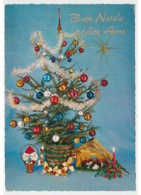 Immagini Natale Anni 70.Presepe Albero Palle Vetro Decorazioni Anni 60 70 Babbo Natale Cartolina Auguri Ebay