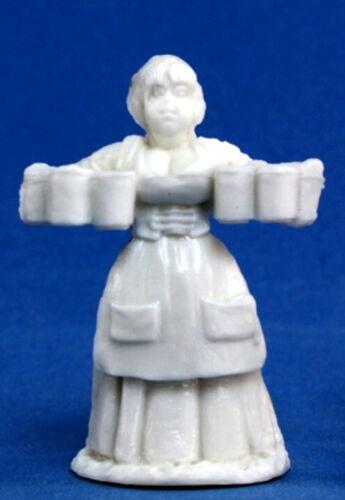 1x VILLAGEOIS SERVANTE BONES REAPER figurine miniature jdr d/&d rpg wench 77085