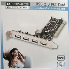 USB 2.0 PCI Card - carte PCI pour ajouter 5 ports USB 2.0 (4 externes+1 interne)