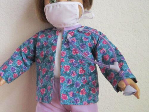 fits American Girl 5-Piece NURSE PURPLE SCRUBS SET includes PURPLE STETHOSCOPE