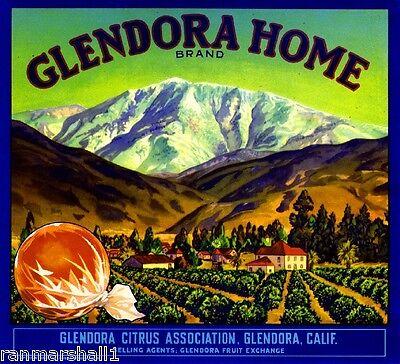 Irwindale Los Angeles County Highest Orange Citrus Fruit Crate Label Art Print