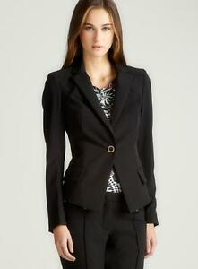 VERSACE Black  Long Sleeve  Single Button Blazer Sz 44 NEW