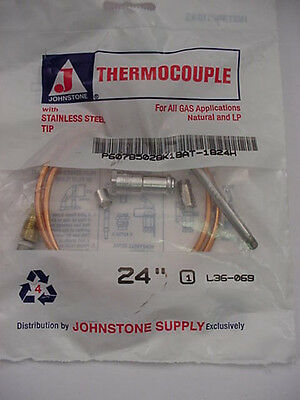 """Johnstone L39-505 /""""Snap-in/"""" 36 inch Thermocouple"""