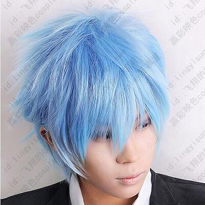 254 Kuroko's Basketball Kuroko Tetsuya Ice Blue Cosplay Short Wig Postage Free