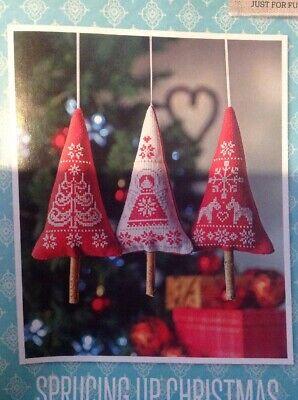 Scandi Xmas Tree Decorations Angel Reindeer Cross Stitch Chart X3