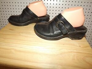 caa4ffa5d07b Womens b.o.c Born Concept shoe clogs - leather - size 9 -   BC9457 - black