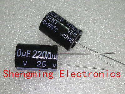 10PCS 2200UF 25V Electrolytic Capacitor 25V 2200UF 13x21mm