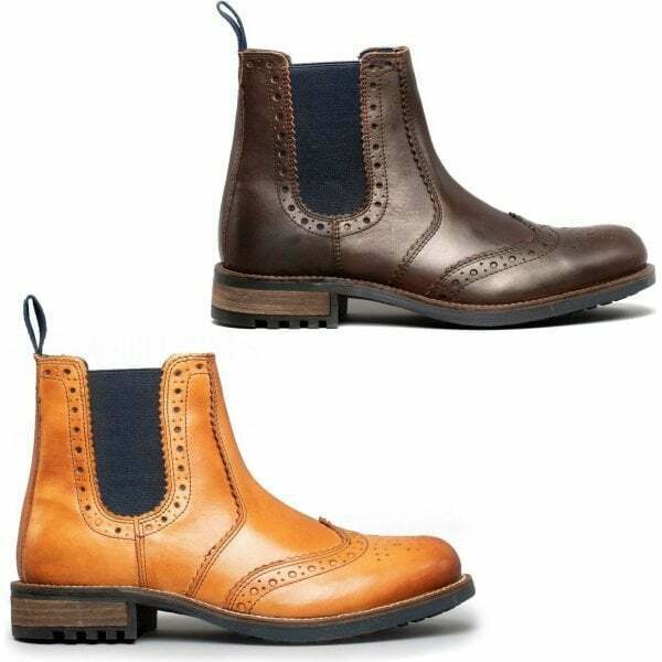 Catesby Shoemakers RAGNAR Mens Rugged Leather Brogue Chelsea Ankle Boots
