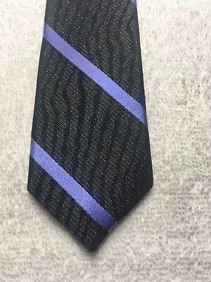 Consegna Veloce Claiborne Cravatta Uomo Nero Grigio Antracite Con Strisce Blu 2 X 59 Skinny