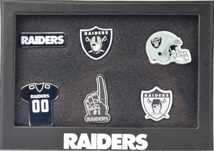 Forever Collectibles Las Vegas Raiders 6 Piece Pin Badge Set Pin NFL NEW