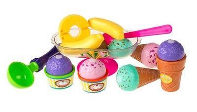 REDBOX ~ ICE CREAM CUT & PLAY SET ~ Pretend Play Kitchen Toy Food ~ 19 pieces