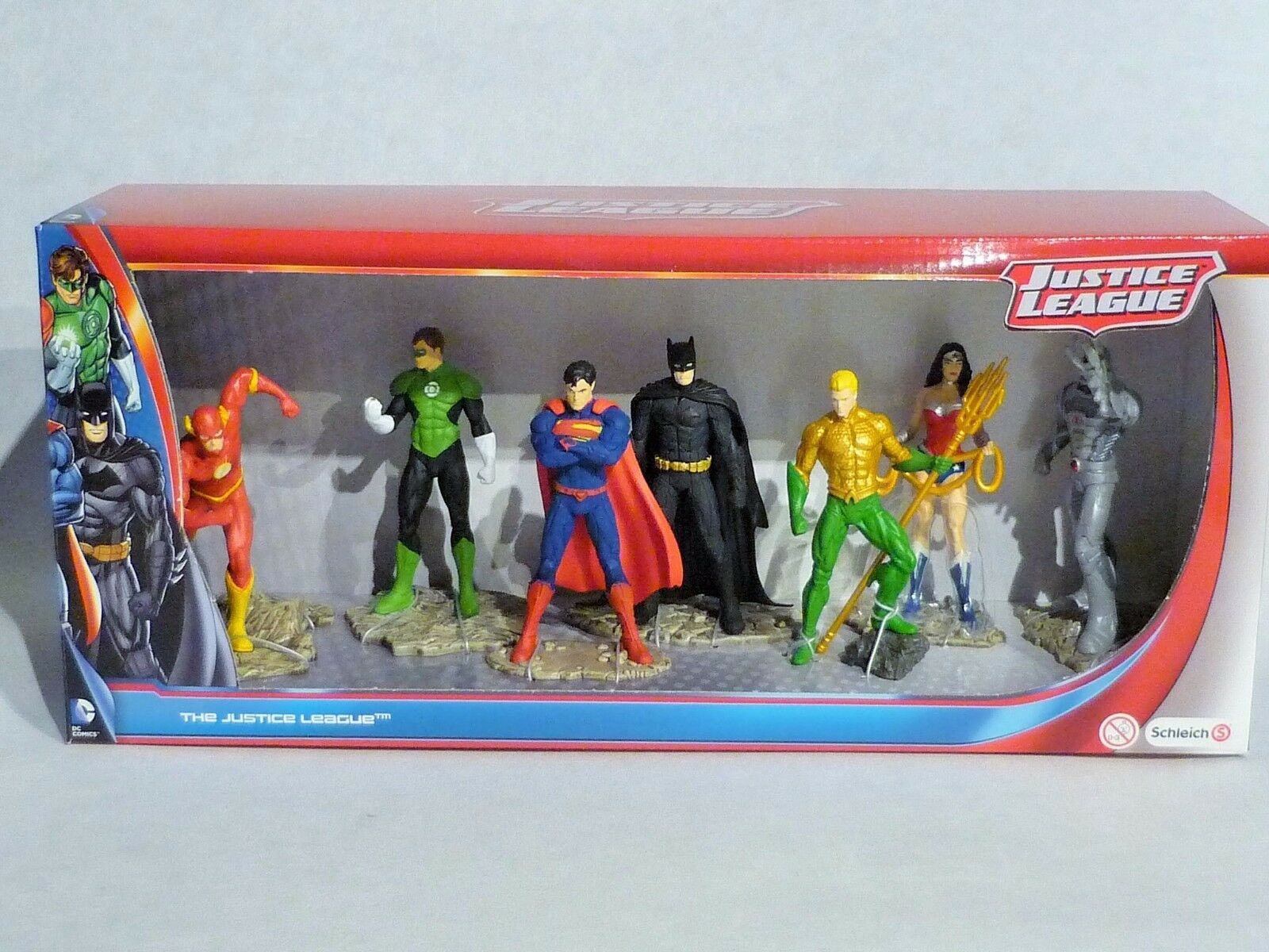 SCHLEICH 22528 - 7 Figuren SET Superman, Batman, Flash Comic Justice League NEU