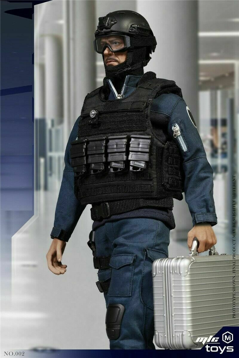 1 6 MICTOYS NO.002 Tony Stark S.H.I.E.L.D.Uniform Stealth Edition Figure Set Toy
