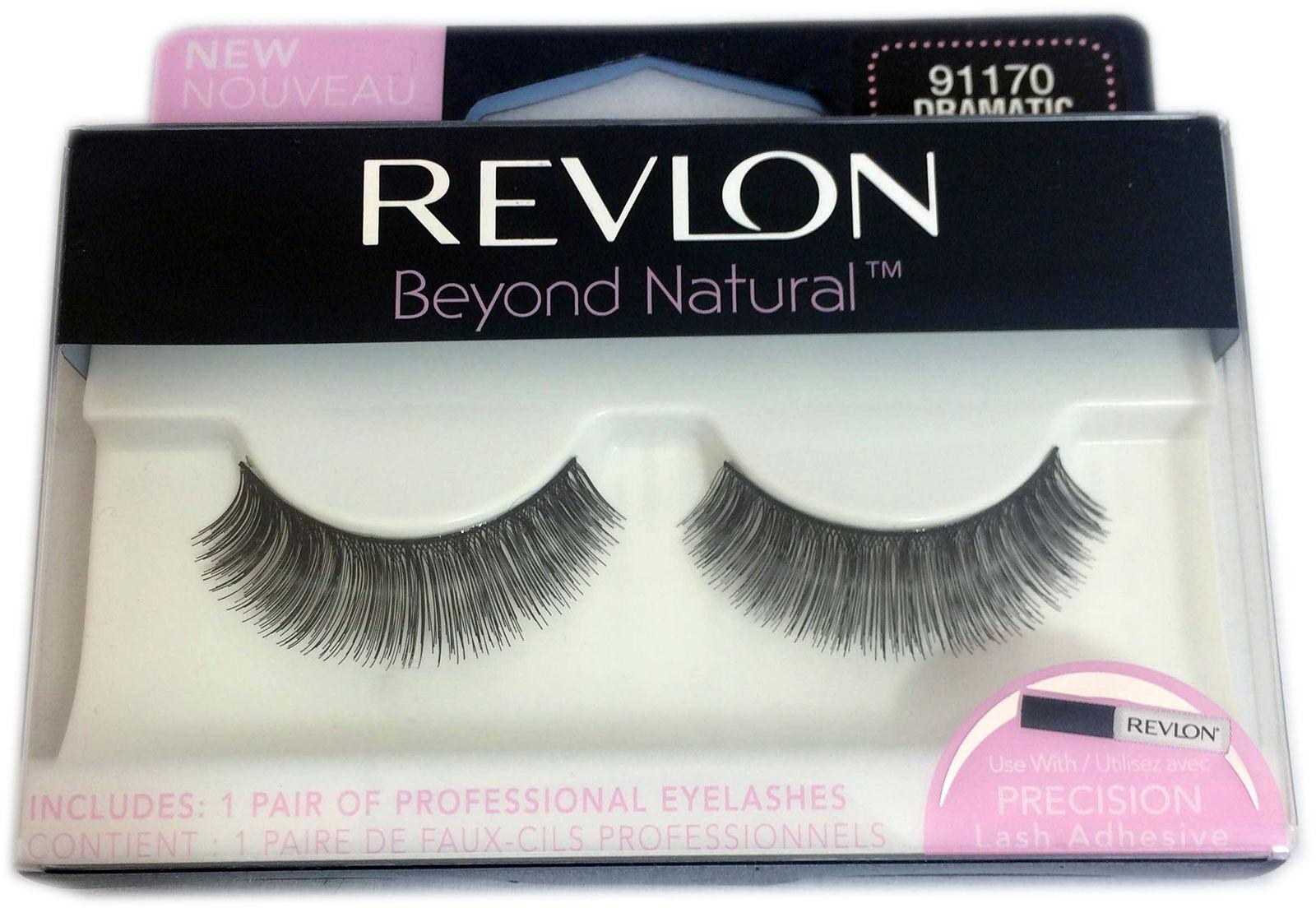 Revlon Beyond Natural 1 Pair False Eyelashes 91170 Dramatic 3x