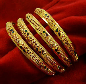 Indian Women Traditional Kada Bangle Set Wedding Bracelets Bridal