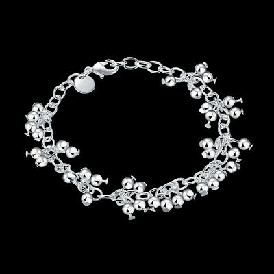 Praktisch Asamo Damen Armband Mit Kleinen Kugeln 925 Sterling Silber Plattiert A1085