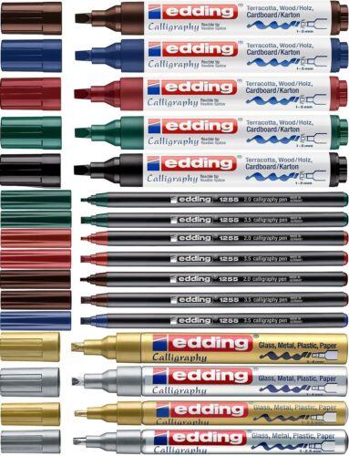 Edding 1455//1255//755//753 Kalligrafiemarker Decomarker Farbauswahl NEU Zeichnen