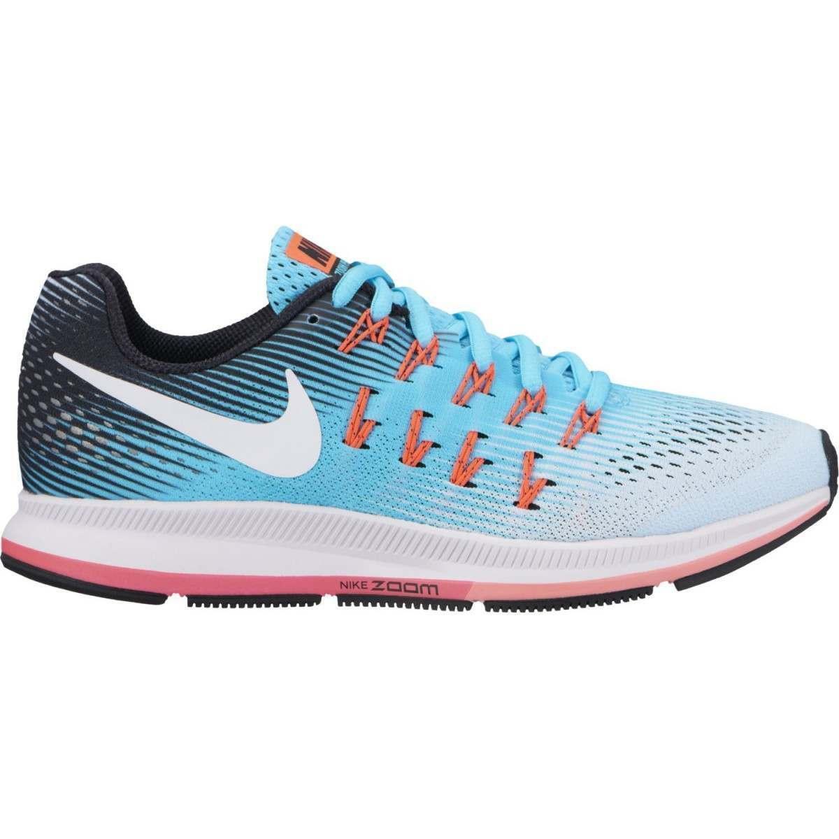 nike running pegasus zapatos, Blanco gris azul de los