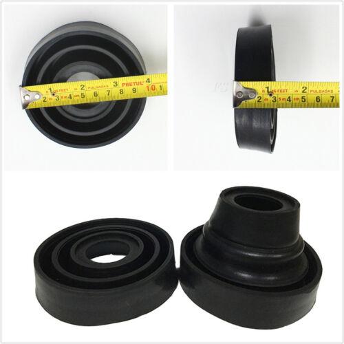 2 Pcs Black Seal Cap Dust Cover For Car SUV Headlights Retrofit 55//70//80//90//95mm
