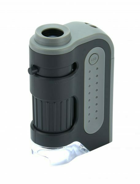 Carson MicroBite Plus MM-300 60-120X LED POCKET MICROSCOPE - OFFICIAL UK STOCK