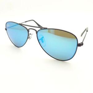 99466909feb Ray Ban Kids RJ 9506 S 201 55 Black 50 Blue Mirror New 100 ...