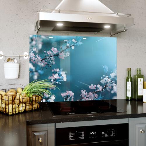 MAGNETIC Glass Splashback Kitchen Cooker Whiteboard QUICK FIT Macro Flowers 0365