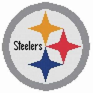 Image Is Loading Counted Cross Stitch Pattern Pittsburgh Steelers Logo Free