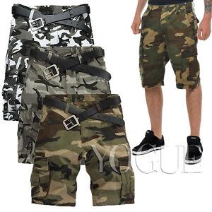 1fe4baf7da9 Image is loading Military-Mens-CAMO-CARGO-SHORTS-Camouflage-BERMUDA-Work-