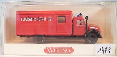 Wiking 1/87 N. 861 11 34 Valigia Magirus-camion Pompieri Chiamata Infermiera 112 Ovp #1473-mostra Il Titolo Originale Morbido E Leggero