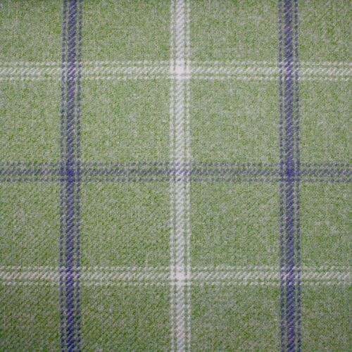 Lewis Curtain Upholstery Fabric Heather Lime 2919 Heather Wool Touch