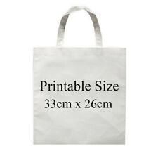 10pcs 13x10 Non Woven White Blank Sublimation Shopping Bag Diy Tote Bags