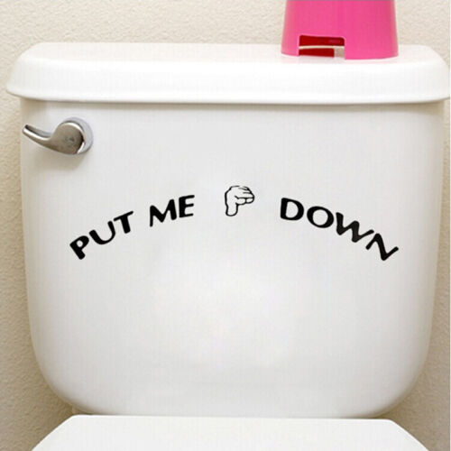 1X Put Me Down Toilet Bathroom Decal Funny Sticker Pvc Wall Potty Training BCYC
