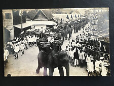 1930 SIAM THAILAND KING RAMA 7 PRAJADHIPOK ON ELEPHANTS PROCESSION IN CHIANG MAI