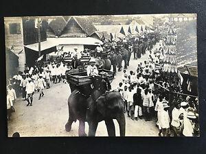 1930 SIAM THAILAND KING RAMA 7 PRAJADHIPOK ON ELEPHANTS PROCESSION IN CHIANG MAI