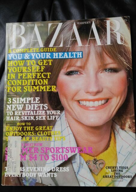 Vintage Harper's Bazaar April 1976 Cheryl Tiegs cover