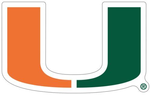 "You Choose Size 2/""-46/"" University of Miami Hurricanes NCAA Vinyl Decal Color"