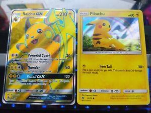 Pikachu Holo 28//73 TCG Shining Legends NM Pokemon Fast Processin Raichu GX SM90