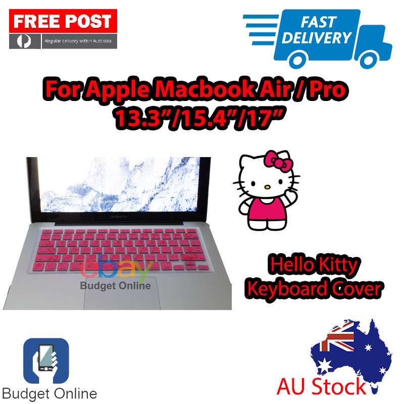 super cute 9584c e888a Details about Hello Kitty Keyboard Case Cover Protector for Apple MacBook  Pro Air 13.3
