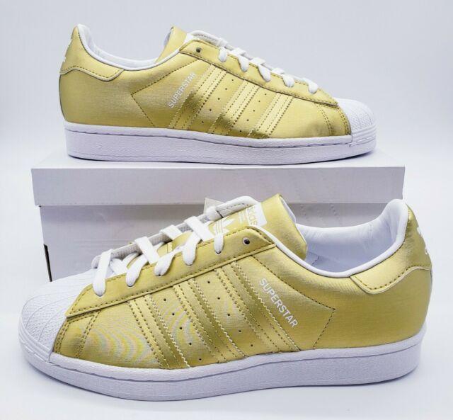 Size 8.5 - adidas Superstar Gold Metallic - FY1154 for sale online ...
