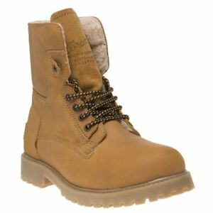 16c9694b723 Details about New Mens Wrangler Tan Aviator Leather Boots Lace Up