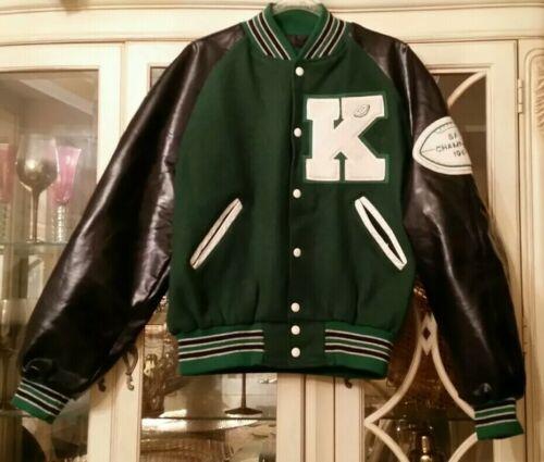 Vintage 90s Holloway Wool Varsity Letterman Jacket