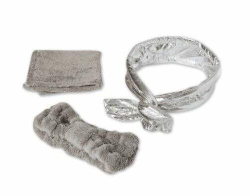 Macy's 3 Pc Wash The Day Away Set Grey Headband Washcloth Wire Headband New