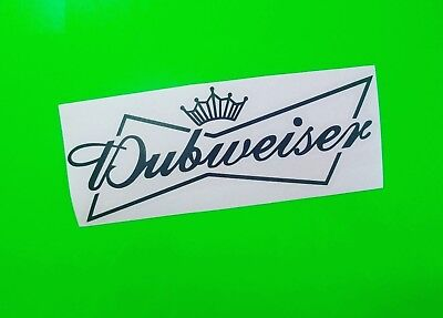 DUBWEISER Car//Van//Window//Bumper Volkswagen VW GTI VR6 EURO Sticker 20x7.6cm