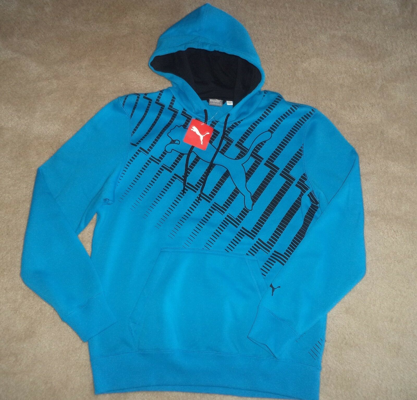 Men's Puma hoodie turquoise bluee  Large NEW